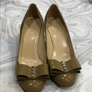 Wedge tan leather Kate spade shoes
